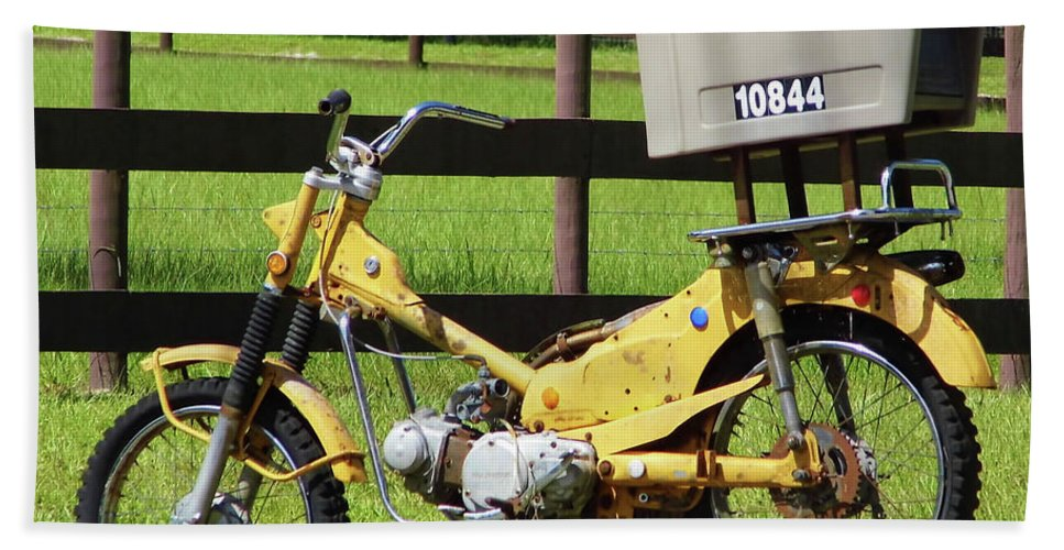 Mailbox Hand Towel featuring the photograph Dirt Bike Mail Box by D Hackett