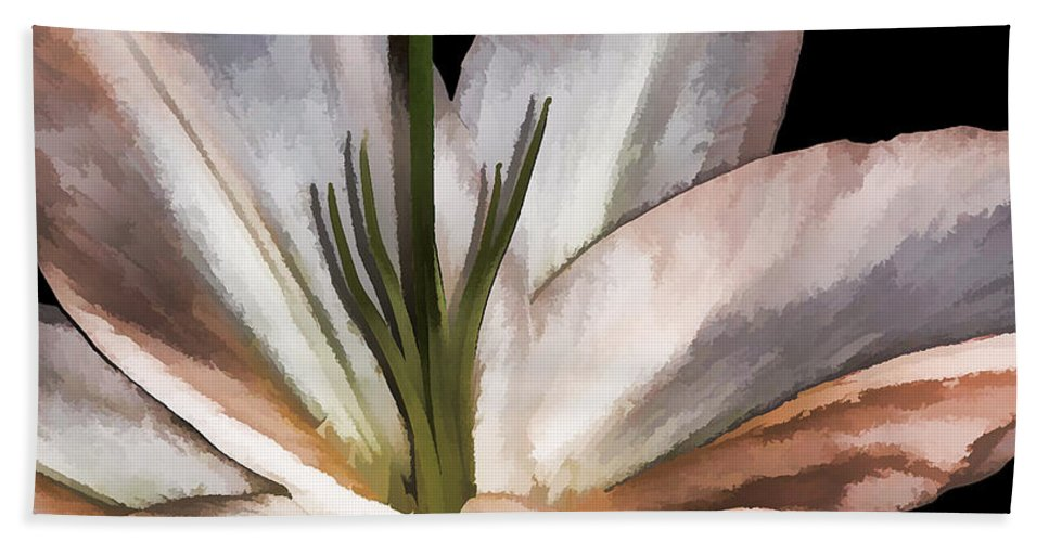 Lily Bath Sheet featuring the photograph Dirty White Lily 3 by Margaux Dreamaginations