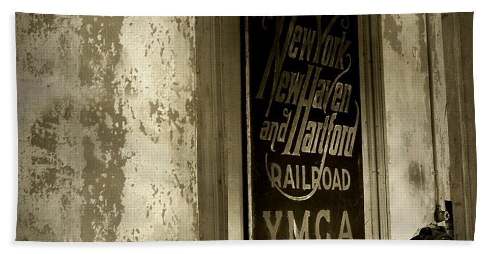 Connecticut Hand Towel featuring the photograph Disappearing Railroad Blues by RC DeWinter