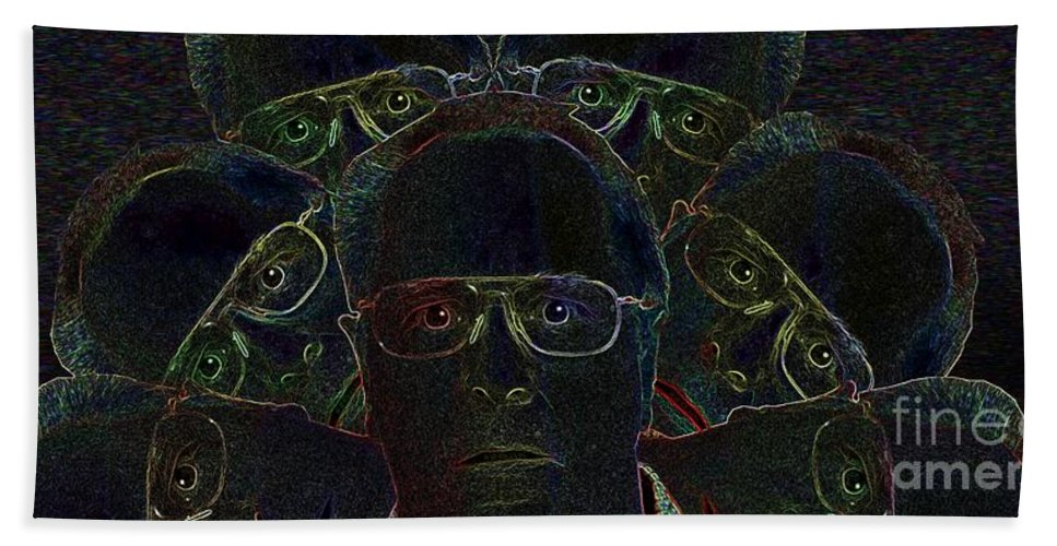 Disbelief Hand Towel featuring the photograph Disbelief On Several Levels by Ron Bissett