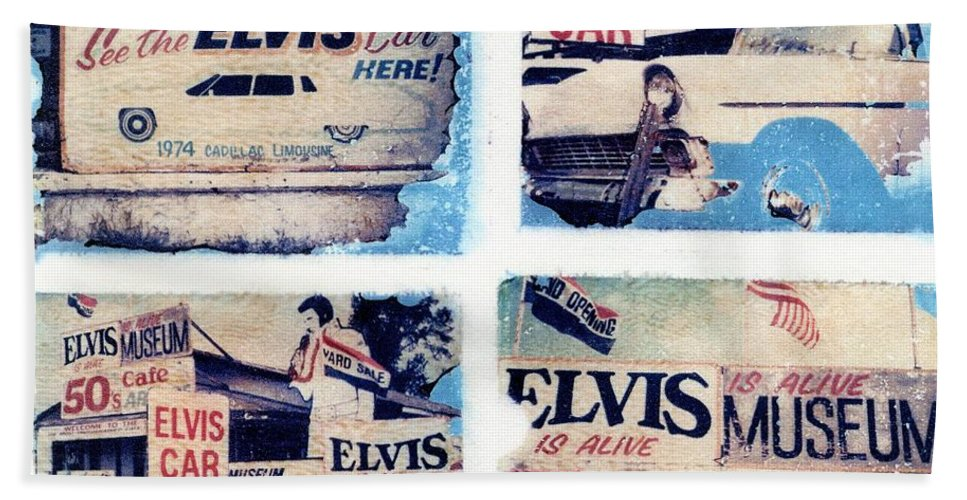 Elvis Hand Towel featuring the photograph Disgraceland by Jane Linders