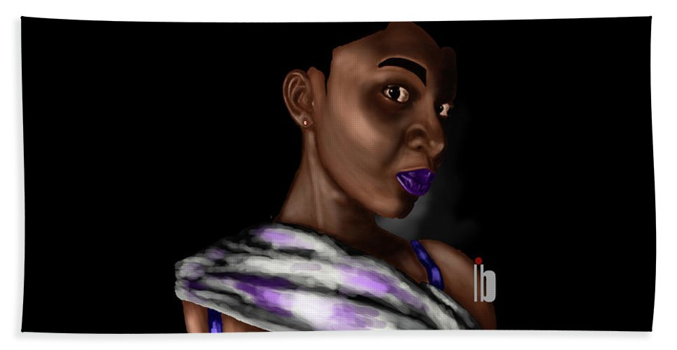 Portrait Work Hand Towel featuring the digital art Disguised by Hubert Appiah