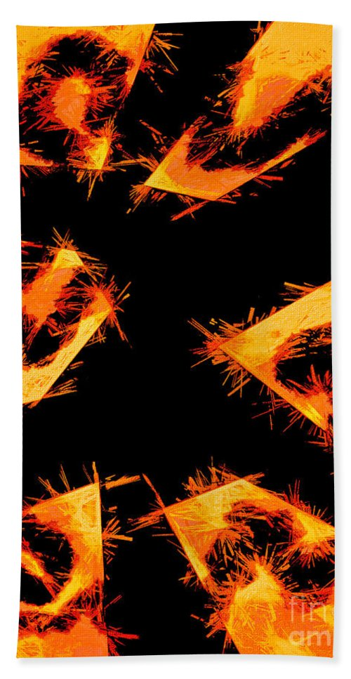 Digital Abstract Multimedia Bath Sheet featuring the mixed media Dismemberment 2 by Tim Richards