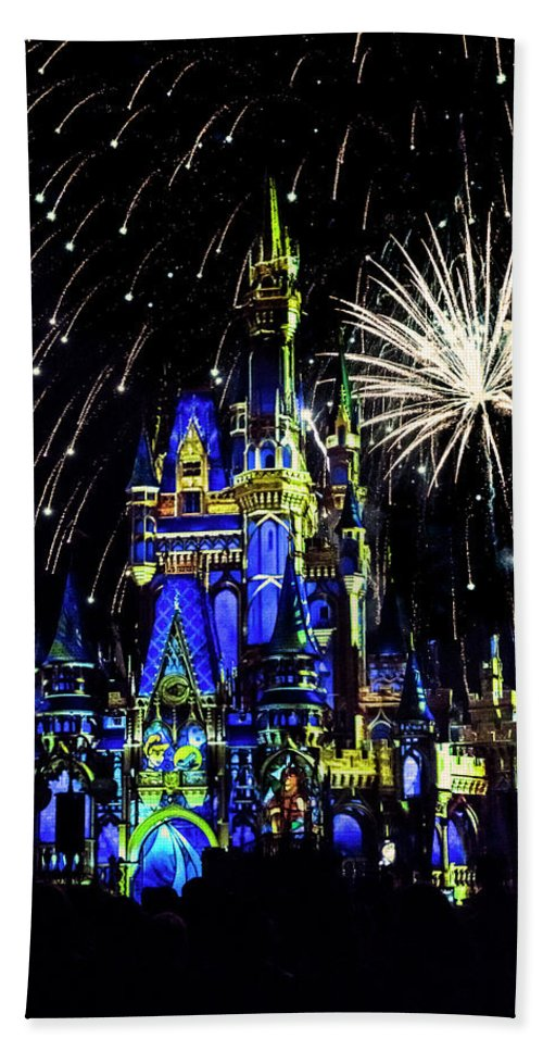 Castle Hand Towel featuring the photograph Disney 12 by Janet Fikar