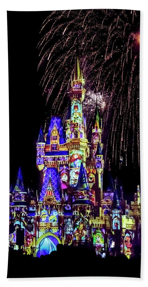 Castle Hand Towel featuring the photograph Disney 14 by Janet Fikar