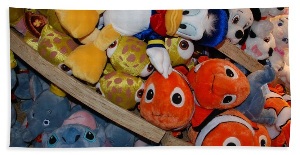 Colors Bath Sheet featuring the photograph Disney Animals by Rob Hans