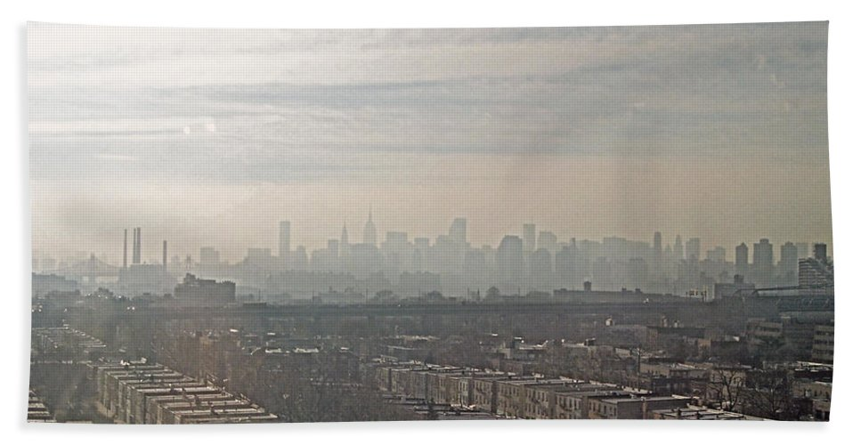 Brooklyn Bath Sheet featuring the photograph Distant City by Paulette B Wright