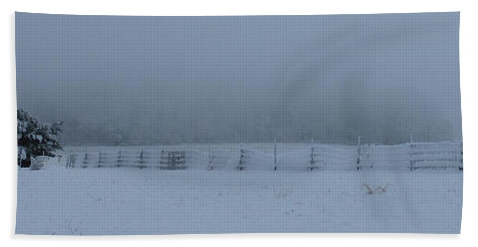 Winter Bath Sheet featuring the photograph Distant Glow by Lori Tambakis