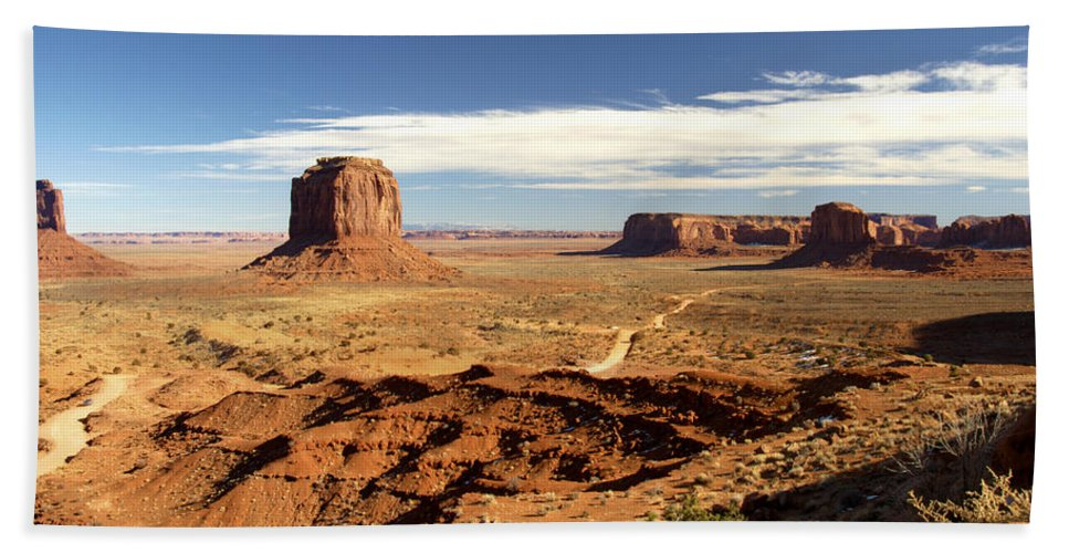 Monument Bath Sheet featuring the photograph Distant Monument by Paul Cannon