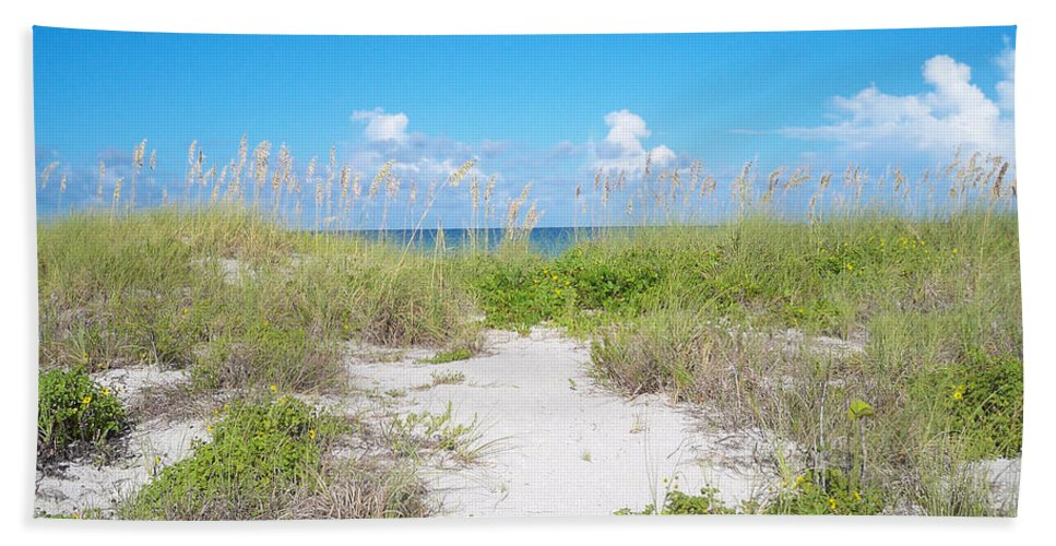 Florida Bath Sheet featuring the photograph Distant Sea by Chris Andruskiewicz