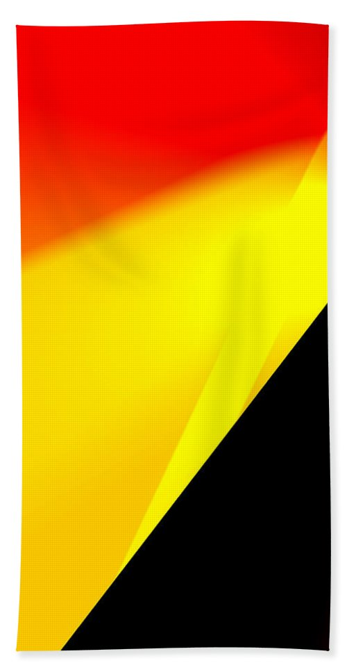 Abstract Hand Towel featuring the digital art Distant Shore by Ian MacDonald