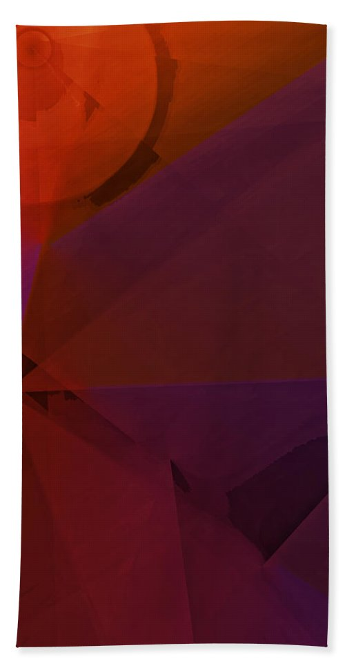 Abstract Bath Sheet featuring the digital art Distant Structures by Ian MacDonald