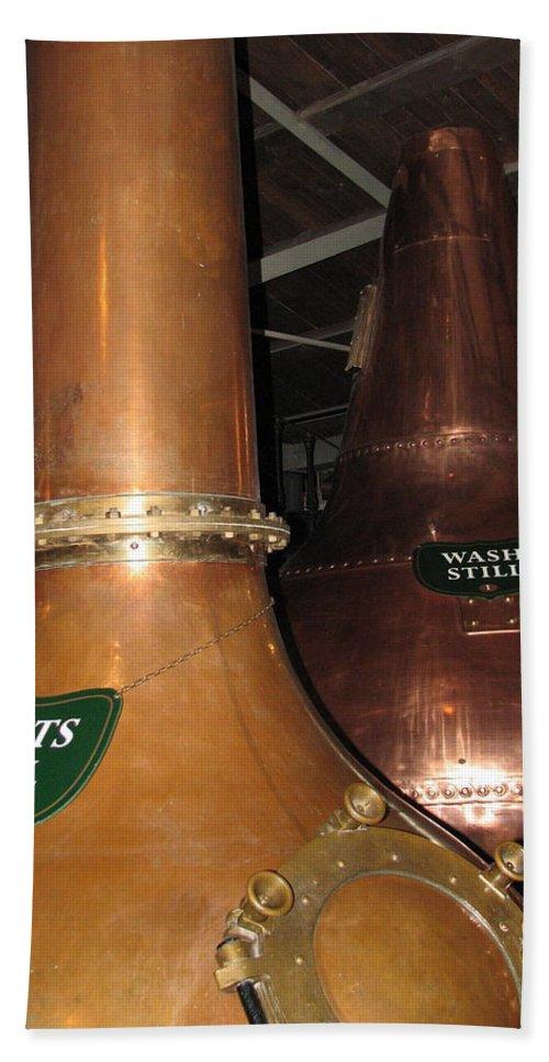 Jameson Bath Sheet featuring the photograph Distillery by Kelly Mezzapelle