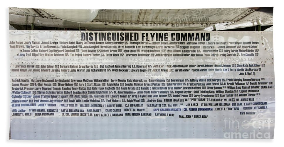 B-17 Bath Sheet featuring the photograph Distinguished Flying Command by Chuck Kuhn