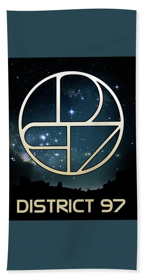 Bath Towel featuring the digital art District 97 Logo by District 97