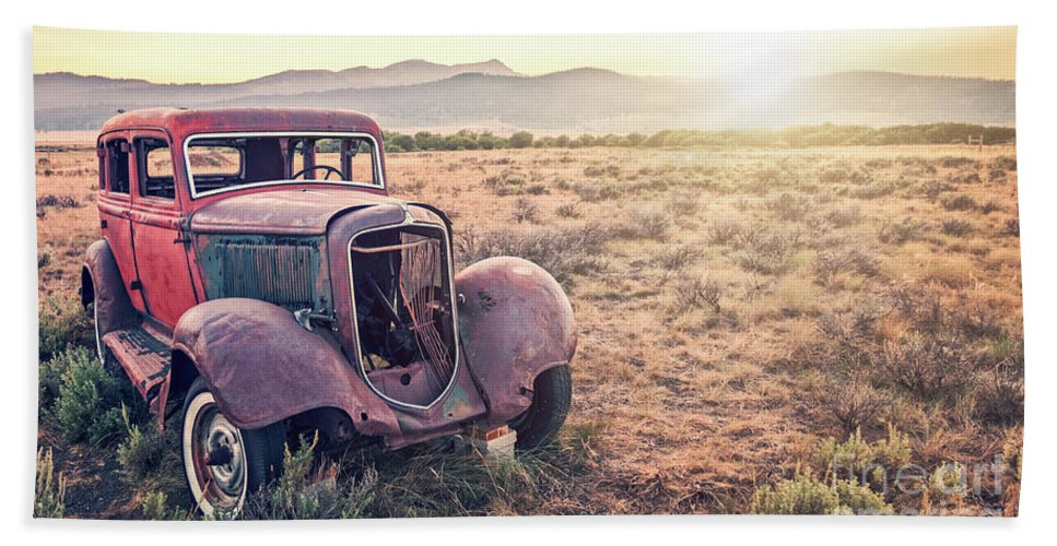 Car Bath Sheet featuring the photograph Disused by Delphimages Photo Creations