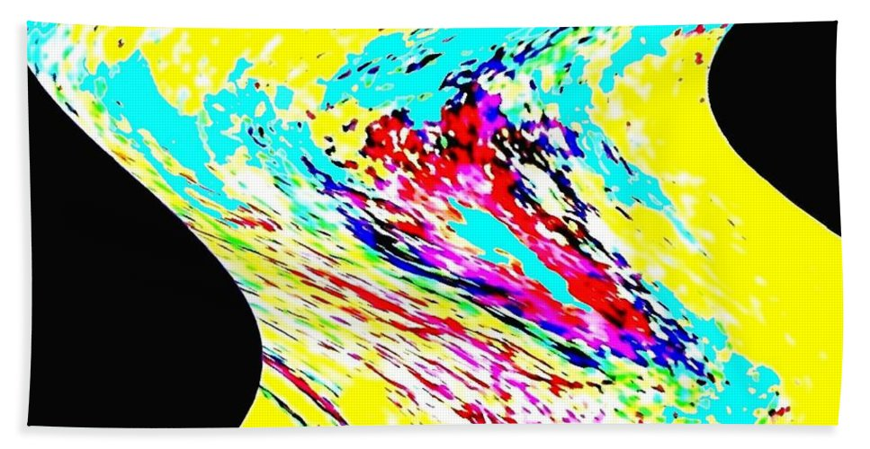Abstract Bath Sheet featuring the digital art Diva by Will Borden