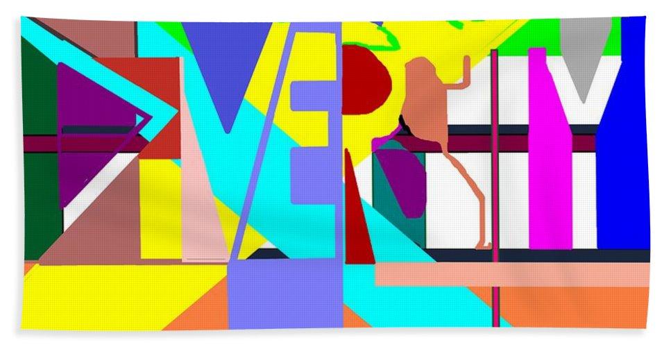 Diversity Bath Sheet featuring the digital art Diversity Enmeshed by Pharris Art