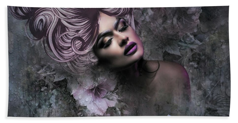 Lovely Hand Towel featuring the mixed media Divine Beauty by G Berry