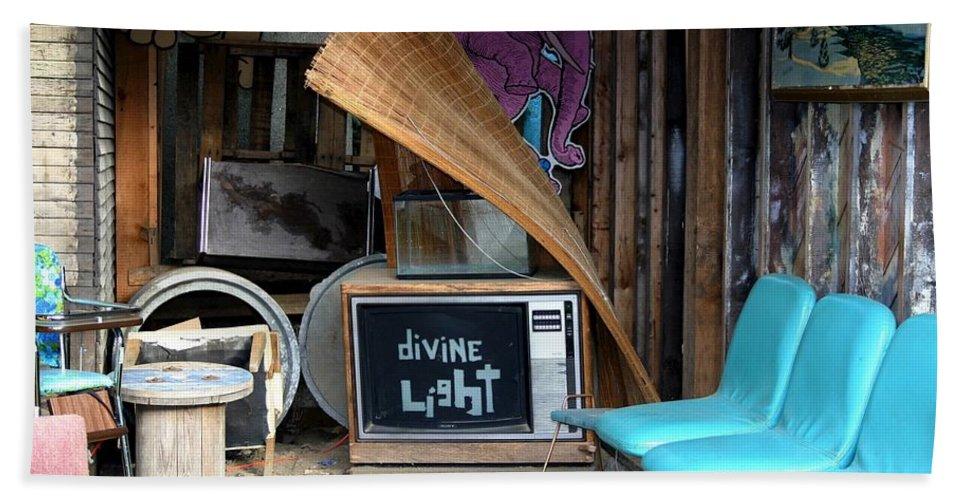 Divine Light Hand Towel featuring the photograph Divine Light by Minaz Jantz