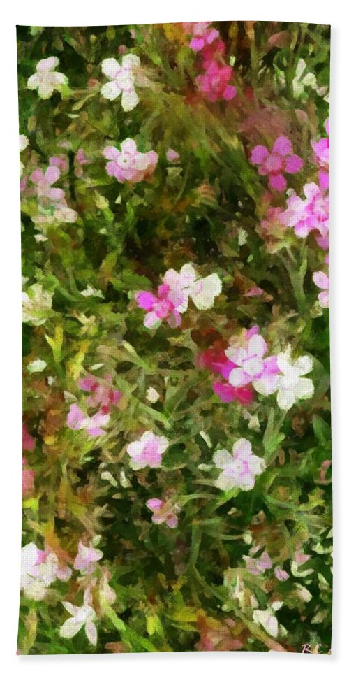 Dianthus Bath Sheet featuring the painting Divine Maidens by RC DeWinter