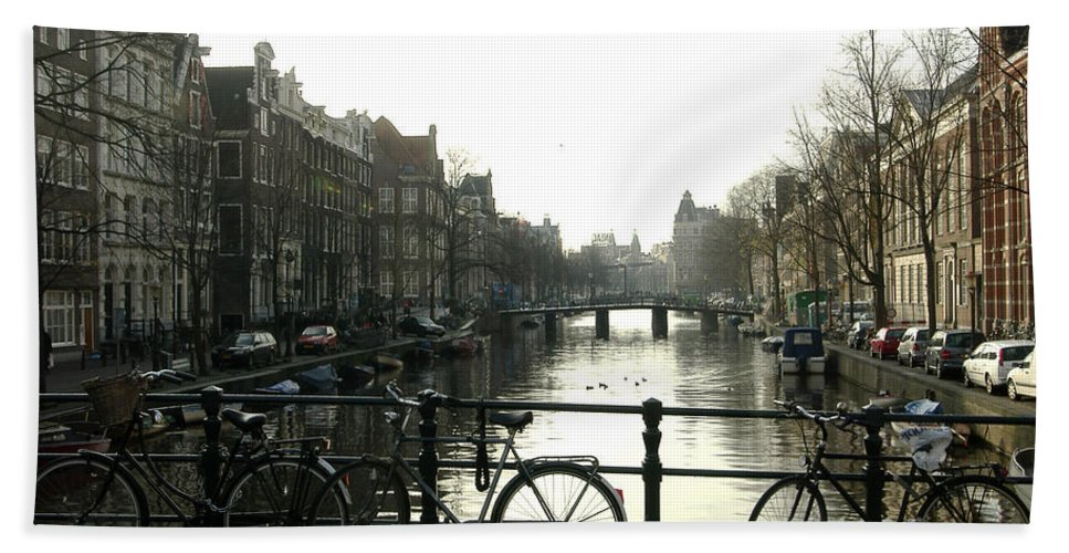 Landscape Amsterdam Red Light District Hand Towel featuring the photograph Dnrh1103 by Henry Butz
