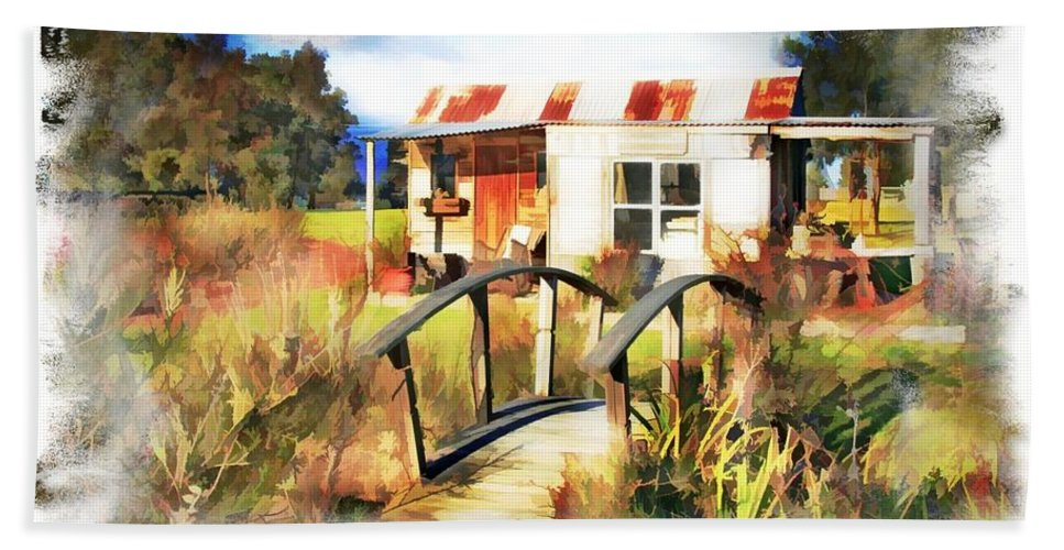 Cottage Hand Towel featuring the photograph Do-00035 Cottage by Digital Oil