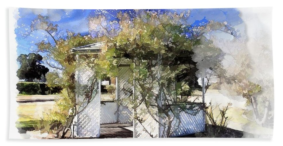 Gazebo Hand Towel featuring the photograph Do-00118 Gazebo by Digital Oil