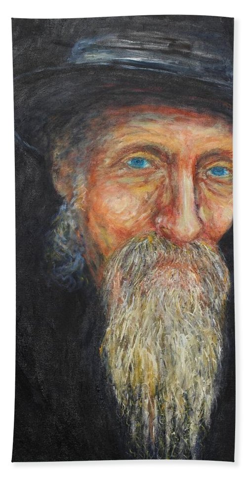 Doc Maclean Hand Towel featuring the painting Doc Maclean by Michael Titherington