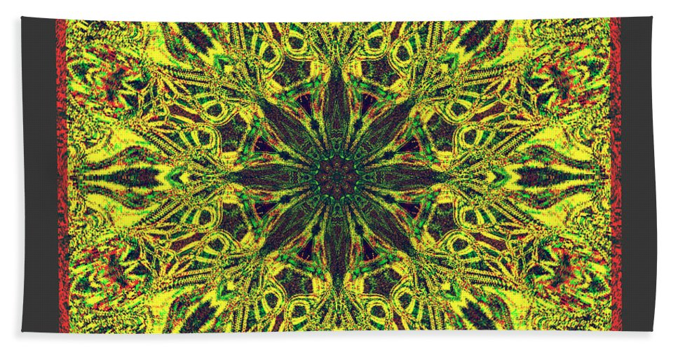 Pattern Bath Sheet featuring the digital art Docira by Blind Ape Art
