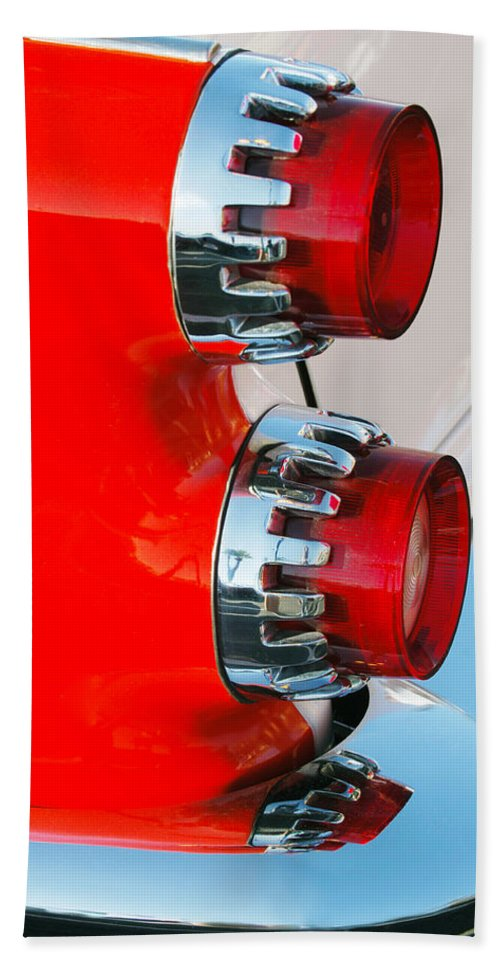 Car Hand Towel featuring the photograph Dodge Coronet Taillight by Jill Reger