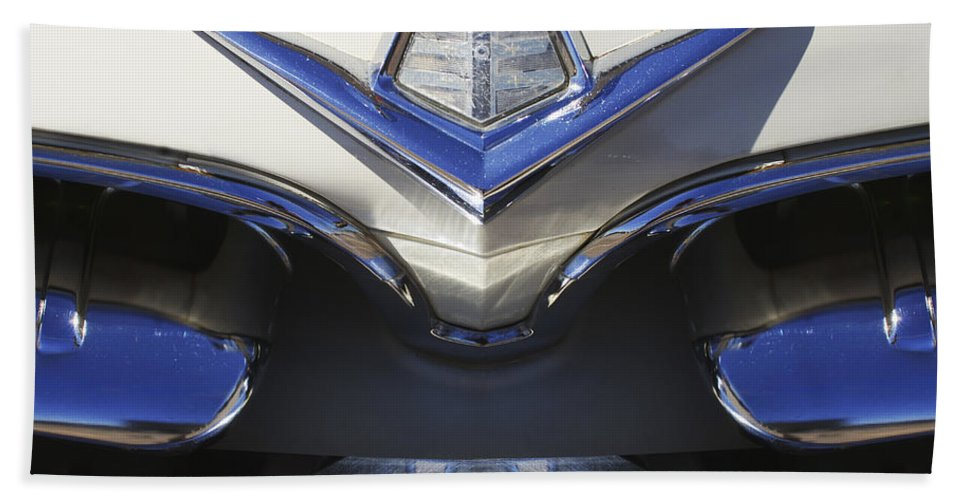 Dodge Custom Royal V8 Bath Sheet featuring the photograph Dodge Custom Royal V8 Hood Ornament by Jill Reger