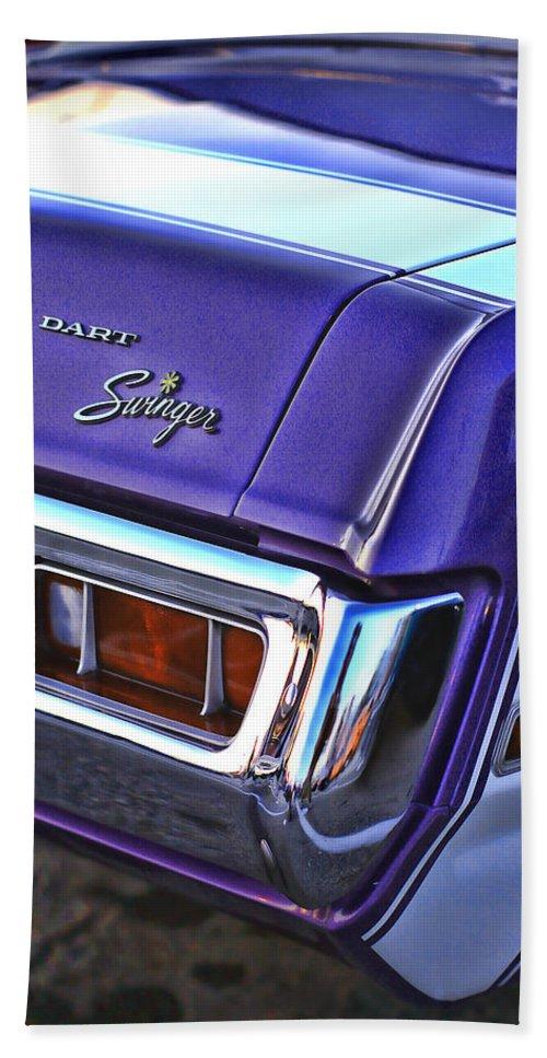 Dodge Hand Towel featuring the photograph Dodge Dart Swinger by Gordon Dean II