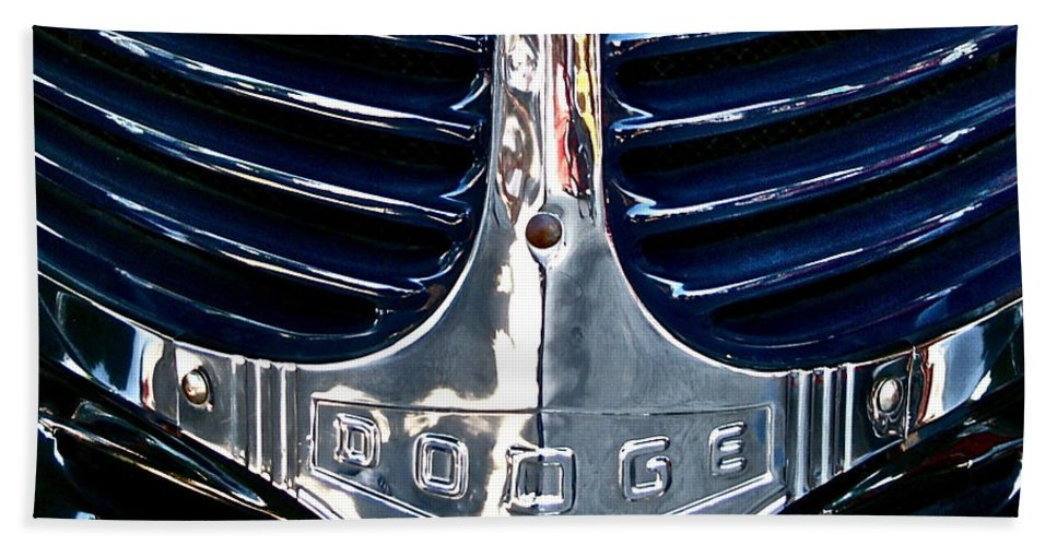Photograph Hand Towel featuring the photograph Dodge Hearse by Gwyn Newcombe