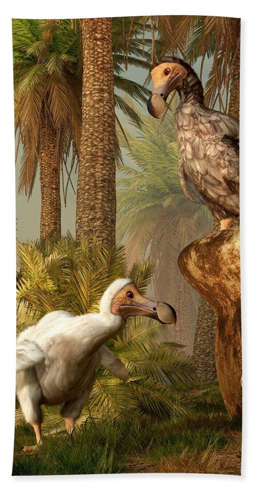 Dodo Bath Sheet featuring the digital art Dodo Hide N Seek by Daniel Eskridge