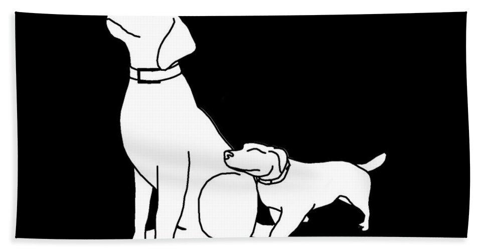 Dog Hand Towel featuring the digital art Dog Love Tee by Edward Fielding