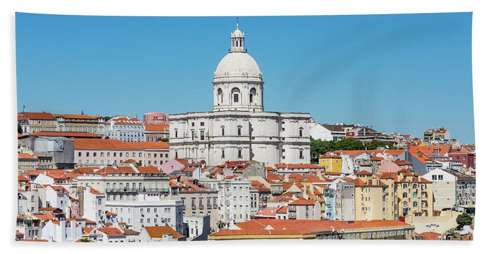 Ancient Bath Sheet featuring the photograph Dome Of Gothic Church In Lisbon by Darryl Brooks