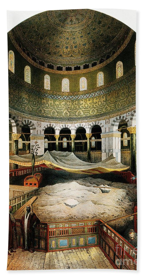 Historic Bath Sheet featuring the photograph Dome Of The Rock, Jerusalem, 1862 by Wellcome Images