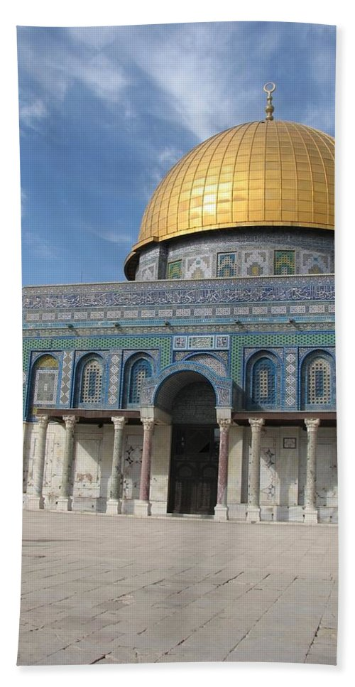Israel Bath Sheet featuring the photograph Dome Of The Rock by Sandra Bourret