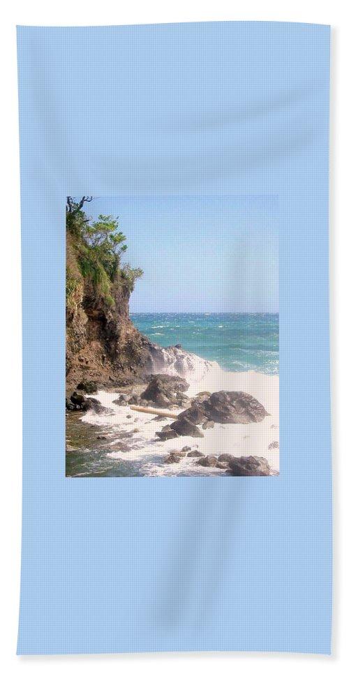 Dominica Bath Towel featuring the photograph Dominica North Atlantic Coast by Ian MacDonald