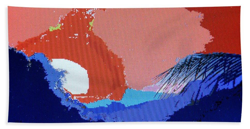 Digital Art Bath Towel featuring the photograph Dominican Sunset by Ian MacDonald