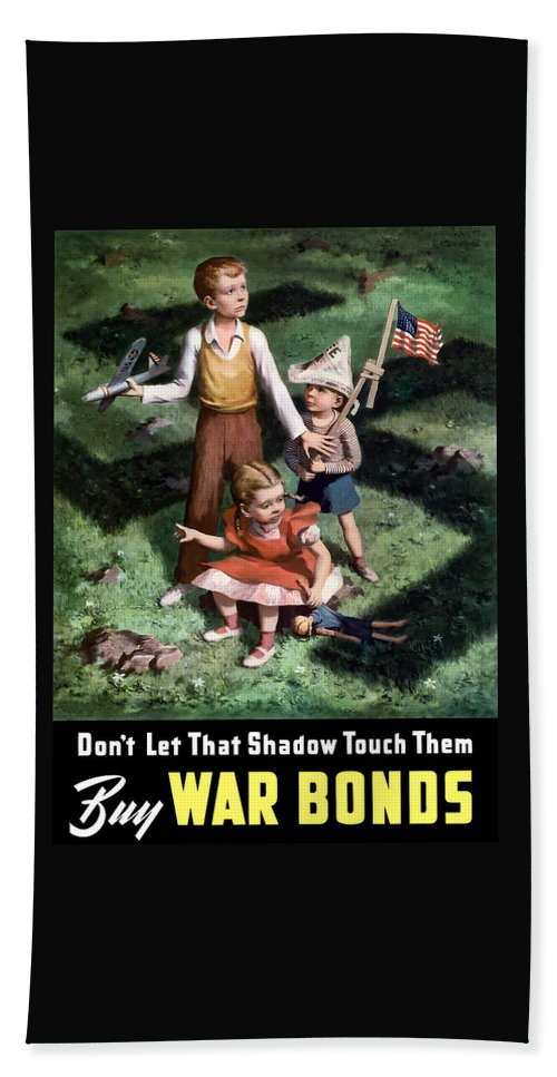 World War Ii Hand Towel featuring the painting Don't Let That Shadow Touch Them by War Is Hell Store