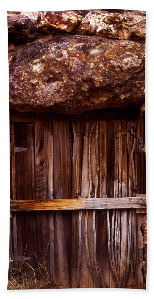 Door Bath Sheet featuring the photograph Door by Karen Ulvestad