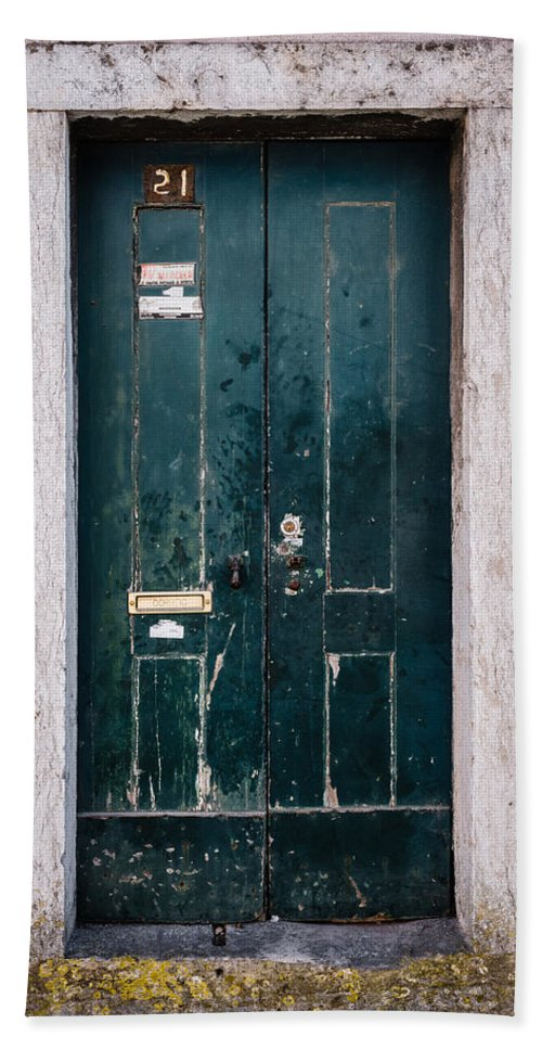Weathered Door Bath Sheet featuring the photograph Door No 21 by Marco Oliveira