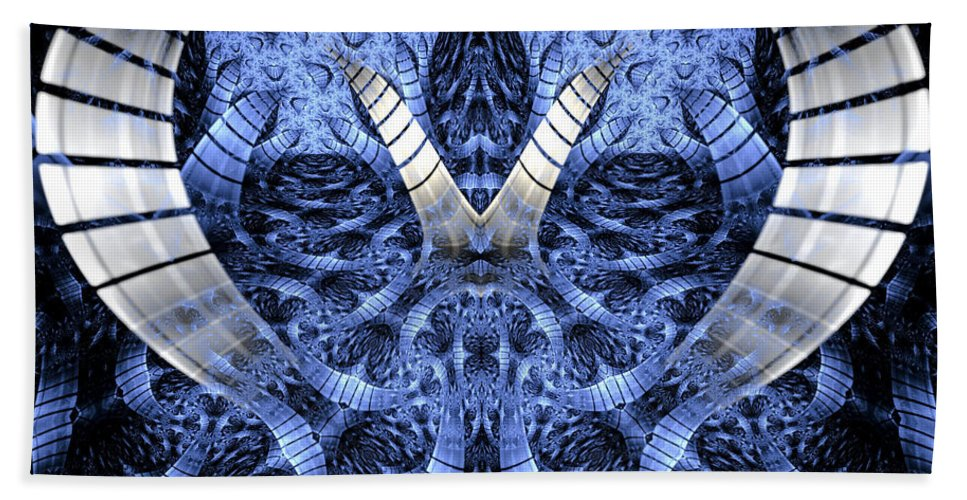 Fractal Hand Towel featuring the digital art Door To Another World by Amorina Ashton