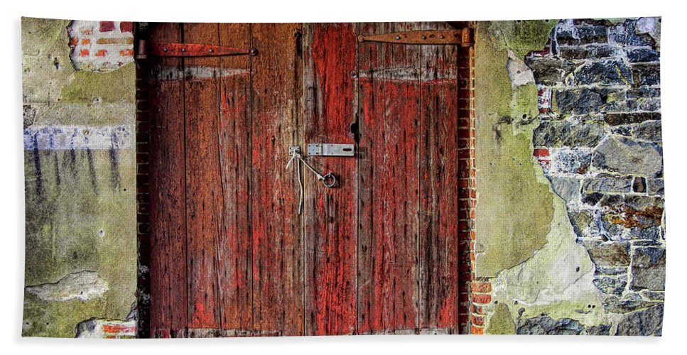 Door Bath Sheet featuring the photograph Door To Discovery by JAMART Photography