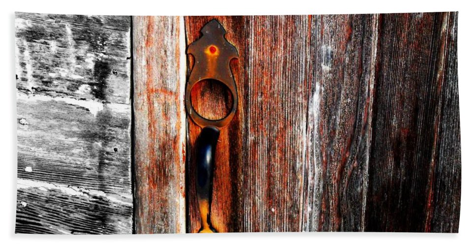 Wood Hand Towel featuring the photograph Door To The Past by Julie Hamilton