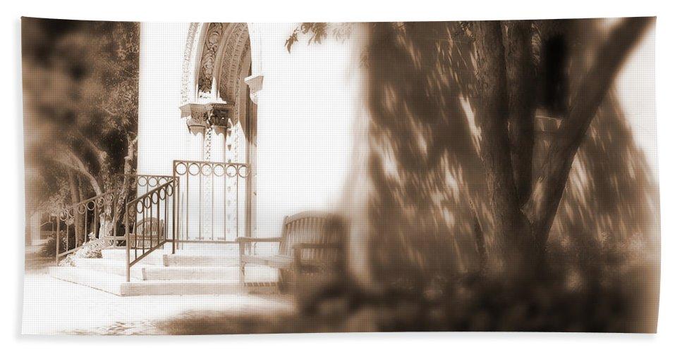 Lauren Radke Hand Towel featuring the photograph Door To Yesterday by Lauren Radke