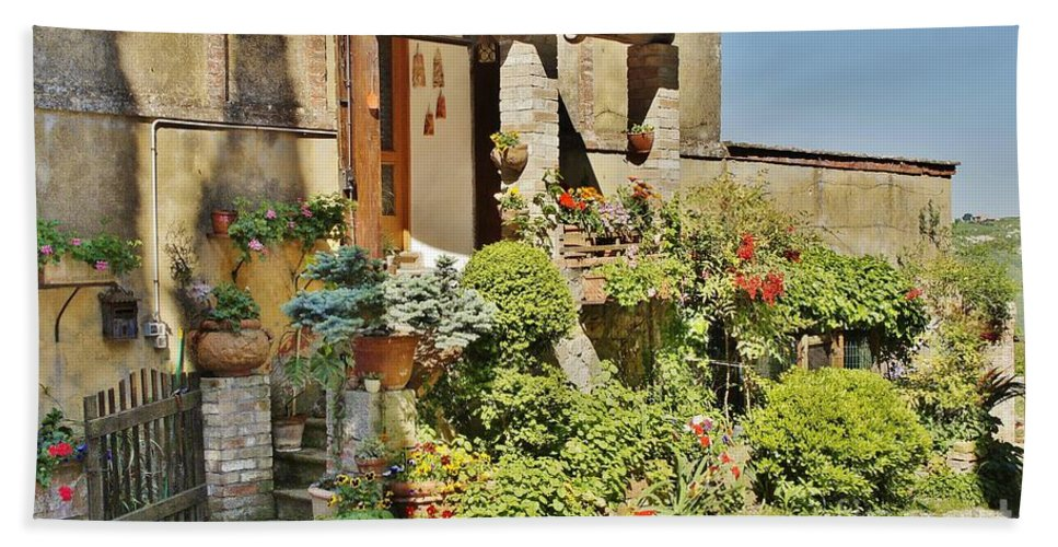 Door Bath Sheet featuring the photograph Little Paradise In Tuscany/italy/europe by Christine Huwer
