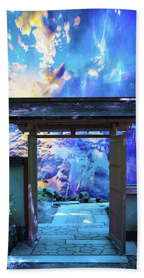 Ocean Hand Towel featuring the digital art Doorway To Heaven by Jeserae Baisch